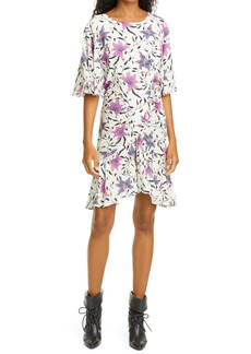 Isabel Marant Étoile Osias Floral Elbow Sleeve Dress