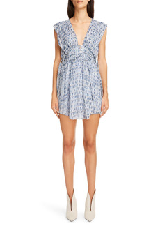Isabel Marant Étoile Segun Batik Print Sleeveless Minidress