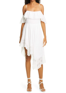 Isabel Marant Étoile Timoria Embroidered Handkerchief Hem Cotton Dress