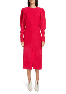 Isabel Marant Venia Long Sleeve Velvet Dress
