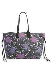 Isabel Marant Wydra Floral Print Coated Canvas Tote