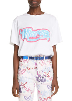 Isabel Marant Zaof Logo Cotton Graphic Tee