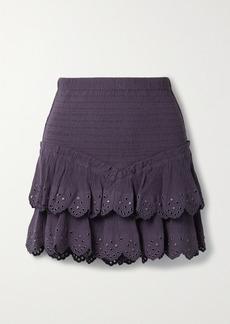 Isabel Marant Landora Embellished Cotton And Silk-blend Crepon Mini Skirt