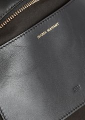 Isabel Marant Luz Leather-Trimmed Raffia Pouch