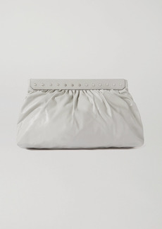 Isabel Marant Luzel Large Studded Leather Clutch