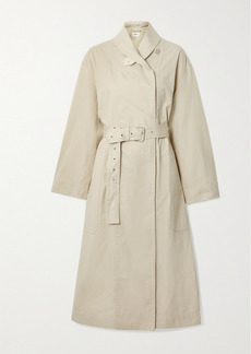 Isabel Marant Peter Oversized Belted Cotton And Linen-blend Trench Coat