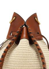 Isabel Marant Radja Canvas & Leather Shoulder Bag