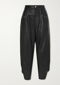 Isabel Marant Studded Leather Tapered Pants
