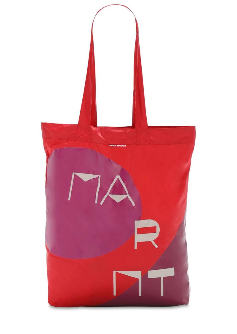 Isabel Marant Woom Logo Print Nylon Tote Bag