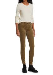 J Brand 815 Mid-Rise Velvet Super Skinny Pants