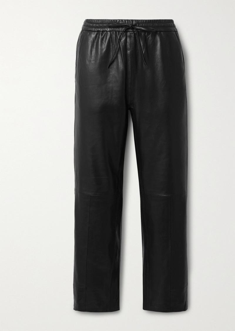J Brand Amari Leather Straight-leg Pants