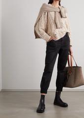 J Brand Arkin Cotton-blend Sateen Track Pants