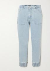 J Brand Arkin Cropped Stretch-denim Track Pants