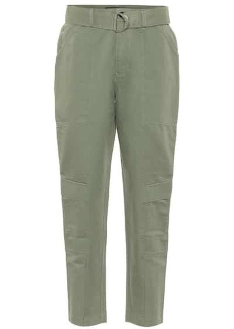 J Brand Athena high-rise stretch-cotton pants