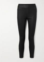 J Brand Dellah Coated High-rise Skinny Jeans