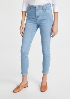 J Brand Darted High Rise Crop Skinny Jeans