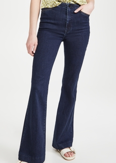 J Brand Darted High Rise Trouser Flare Jeans