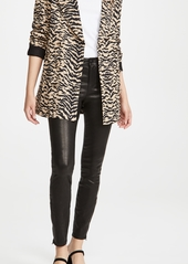 J Brand Mid Rise Skinny Leather Pants