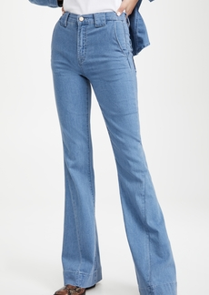 J Brand Twisted Seam Detail Flare Jeans
