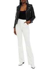 J Brand Woman 1219 Runway Cotton-blend Corduroy Bootcut Pants Off-white