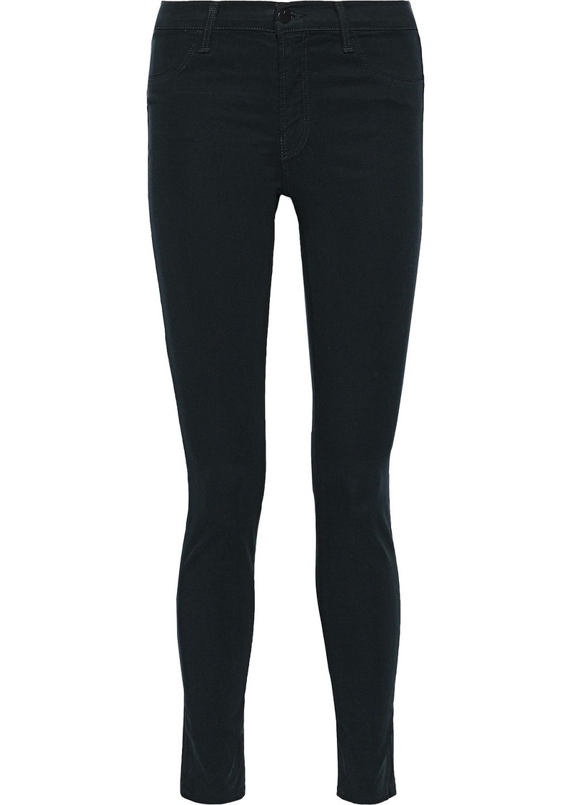 J Brand Woman 485 Tencel-blend Skinny Pants Emerald