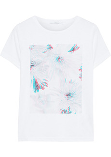 J Brand Woman 811 Printed Cotton-jersey T-shirt White