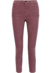 J Brand Woman Alana Cotton-blend Corduroy Skinny Pants Grape