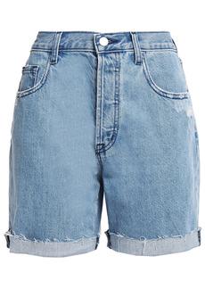 J Brand Woman Billey Distressed Denim Shorts Light Denim