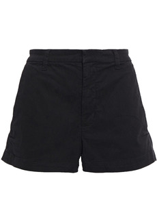 J Brand Woman Cotton-blend Twill Shorts Black