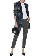 J Brand Woman Clara Cropped Cotton-blend Twill Slim-leg Pants Anthracite