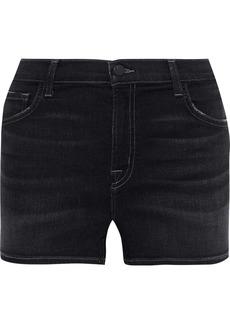 J Brand Woman Faded Denim Shorts Dark Denim