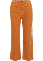 J Brand Woman Joan Faded Cotton-blend Corduroy Wide-leg Pants Camel