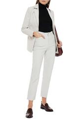 J Brand Woman Jules Leather Straight-leg Pants Off-white