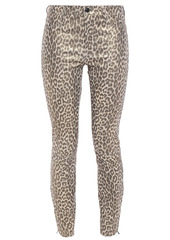 J Brand Woman L8001 Leopard-print Stretch-leather Skinny Pants Animal Print