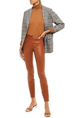 J Brand Woman L8001 Stretch-leather Skinny Pants Tan
