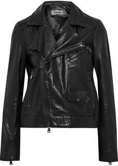 J Brand Woman Letty Leather Biker Jacket Black