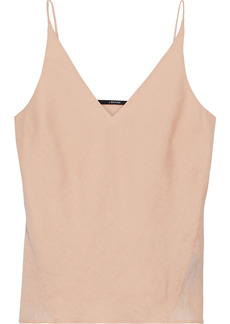 J Brand Woman Lucy Linen-voile Camisole Peach