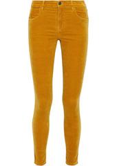 J Brand Woman Maria Cotton-blend Velvet Skinny Pants Mustard