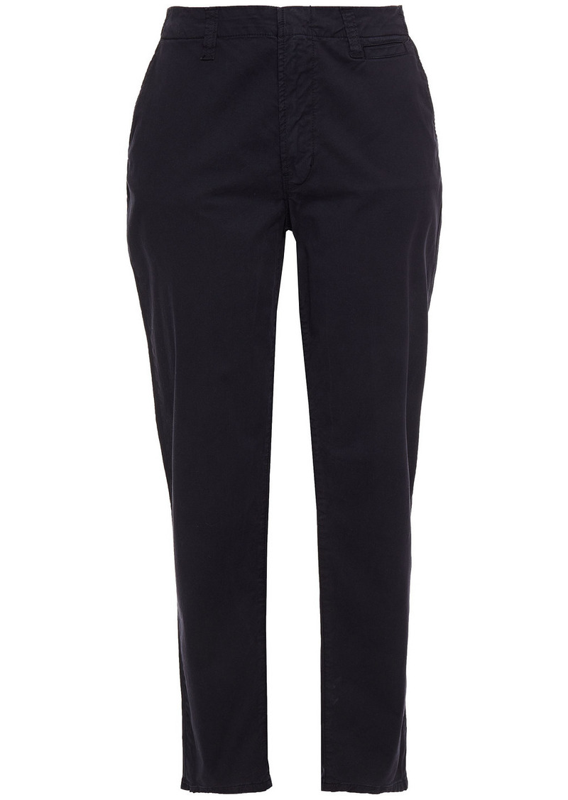 J Brand Woman Ollie Cotton-blend Twill Tapered Pants Navy