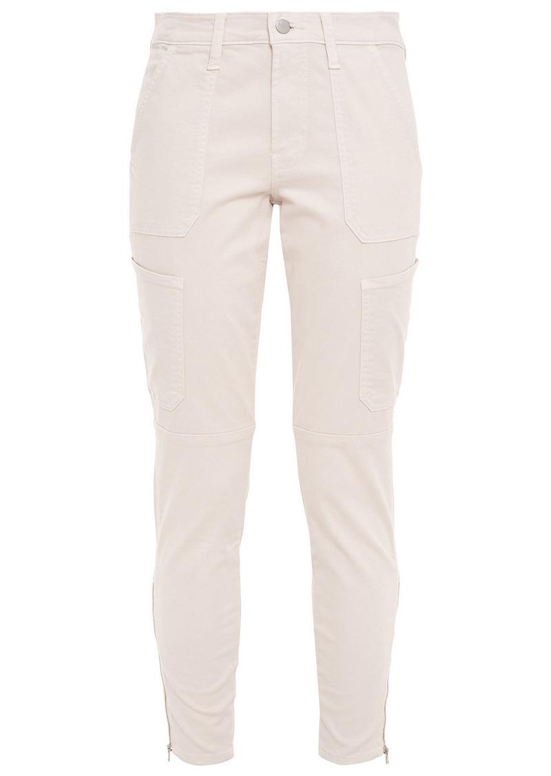 J Brand Woman Skinny Utility Cotton-blend Twill Skinny Pants Cream