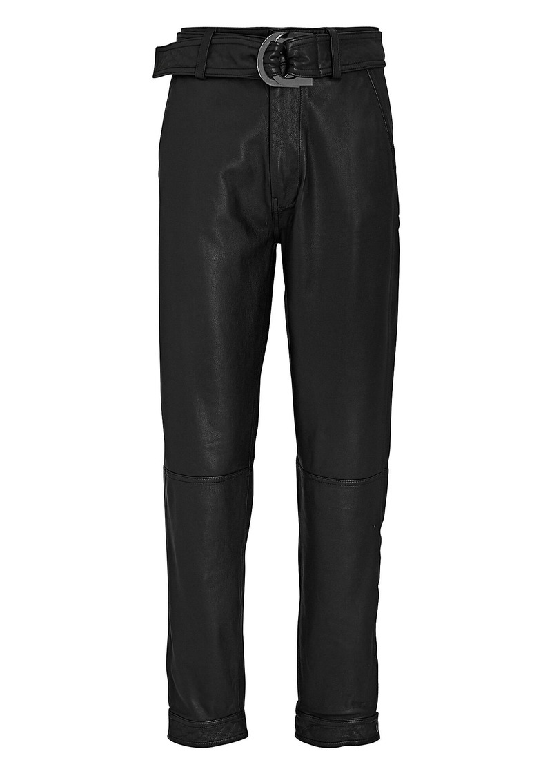 J Brand Jonah High-Rise Leather Trousers