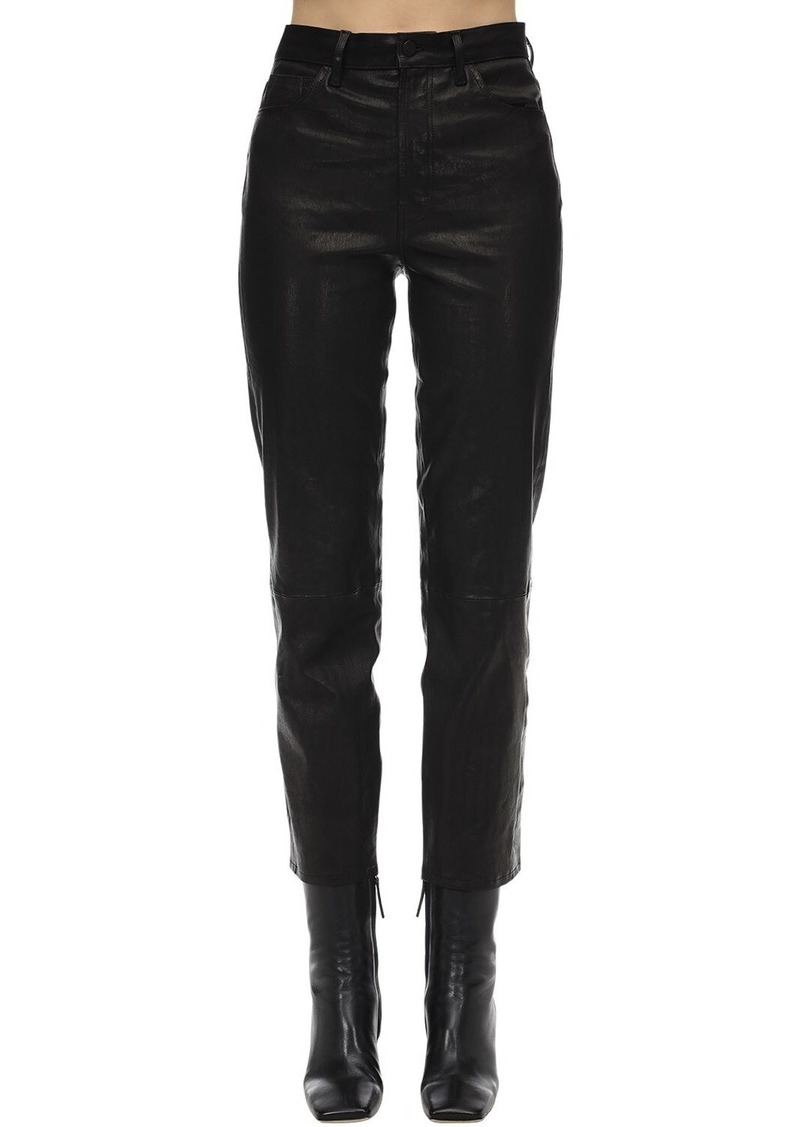 J Brand Jules High Rise Straight Leather Pants