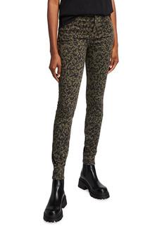 J Brand Maria High-Rise Leopard-Print Skinny Jeans
