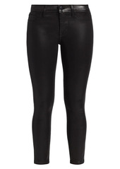 J Brand Mid-Rise Coated Cropped Pants