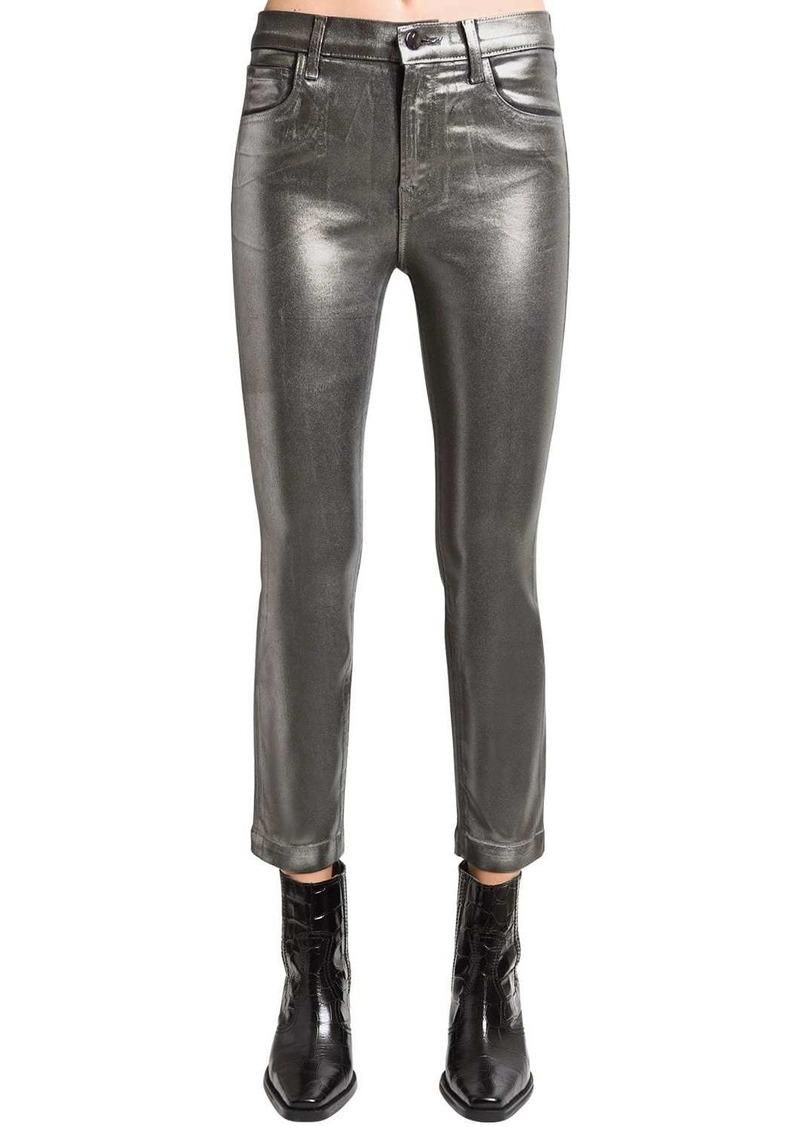 J Brand Ruby Cropped Coated Skinny Pants