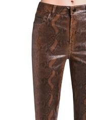 J Brand Ruby High Waist Snake Print Skinny Pants