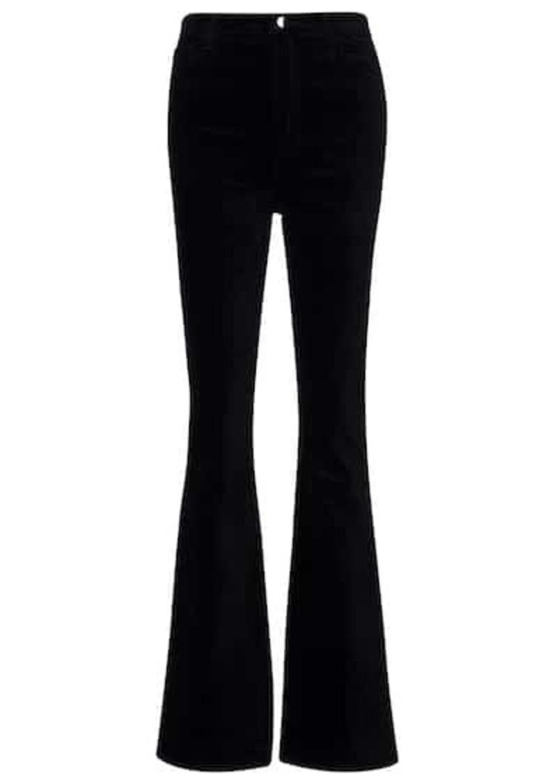 J Brand Runway velvet bootcut pants