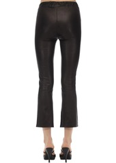J Brand Selena Mid Rise Cropped Leather Pants