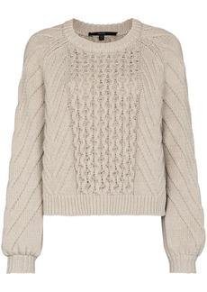 J Brand Zuri fisherman-knit jumper