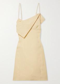 Jacquemus Open-back Draped Linen Mini Dress